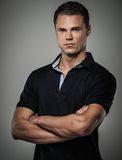 Man wearing polo. Handsome man wearing polo shirt Royalty Free Stock Photos