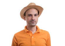 Man wearing polo shirt Stock Photo