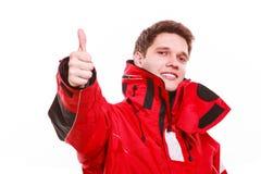Man wearing protective clothing Stock Photos