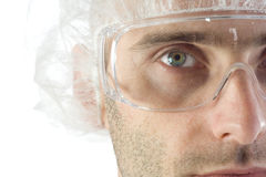 Man wearing protective gear Royalty Free Stock Photo