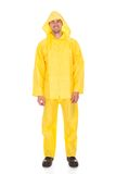 Man wearing raincoat Royalty Free Stock Photos