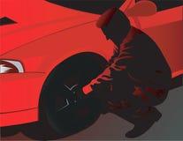Man wearing red vector illustration