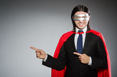 Man wearing red clothing Stock Images