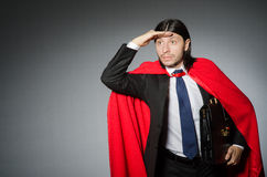 Man wearing red clothing Stock Photos