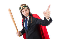 Man wearing red clothing. In funny concept Stock Images