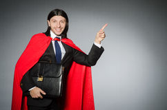 Man wearing red clothing in funny concept Stock Images