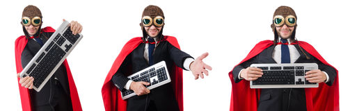 The man wearing red clothing in funny concept Royalty Free Stock Image