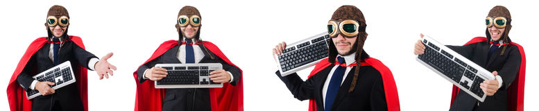 The man wearing red clothing in funny concept Royalty Free Stock Photos