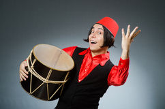 Man wearing red fez hat Royalty Free Stock Photo