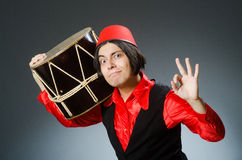 The man wearing red fez hat Stock Photos