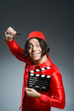The man wearing red fez hat Royalty Free Stock Image