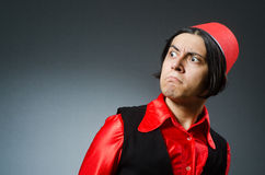 The man wearing red fez hat Royalty Free Stock Photography