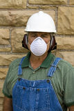 Man wearing safety equipment Royalty Free Stock Photo