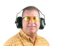 Man wearing safety equipment Royalty Free Stock Image