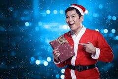 Man Wearing Santa Claus Costume Royalty Free Stock Photo