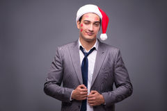 The man wearing santa in funny festive concept Stock Photo