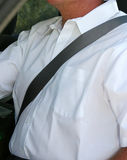 Man wearing seatbelt b Royalty Free Stock Image