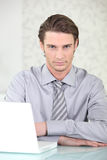 Man wearing shirt and tie Royalty Free Stock Photo
