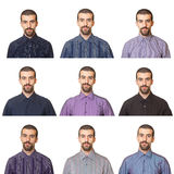 Man Wearing Shirts Stock Photography