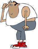 Man wearing a sleeveless T-shirt. This illustration depicts an unshaven man wearing a sleeveless T-shirt Royalty Free Stock Images