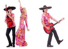 The man wearing sombrero with guitar Stock Photo