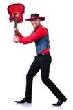Man wearing sombrero Stock Image