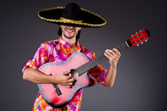 Man wearing sombrero Stock Images