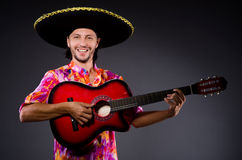 Man wearing sombrero Royalty Free Stock Photo