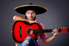 Man wearing sombrero Royalty Free Stock Images