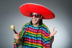 Man wearing sombrero singing song Stock Image
