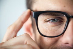 Man wearing spectacles. Close-up of man wearing spectacles Royalty Free Stock Photos