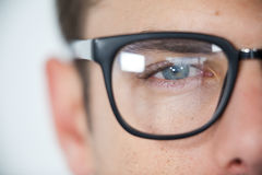 Man wearing spectacles Royalty Free Stock Image