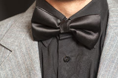 Man wearing a  suit and bow tie Royalty Free Stock Photos