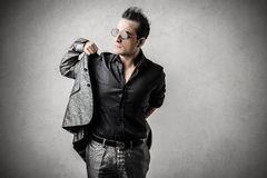 Man wearing a suit. Elegant man wearing a suit and glasses Royalty Free Stock Photos