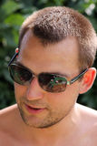 Man wearing sunglasses Royalty Free Stock Photos