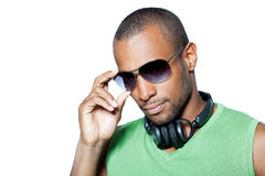 Man Wearing Sunglasses  Royalty Free Stock Images