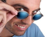 Man wearing sunglasses Royalty Free Stock Photos