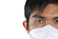 Man wearing a surgical mask Stock Photos