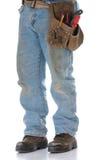 Man wearing toolbelt Stock Photo
