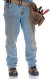 Man wearing toolbelt Stock Images