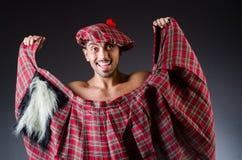 Man wearing traditional scottish clothing Royalty Free Stock Image