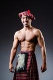 Man wearing traditional scottish clothing Royalty Free Stock Images