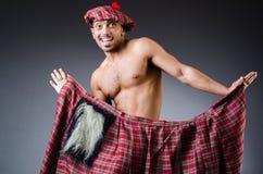 Man wearing traditional scottish clothing Royalty Free Stock Photo