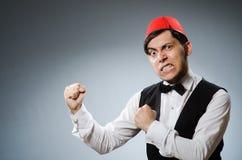 Man wearing traditional turkish hat Stock Photos