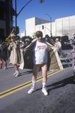 Man wearing a trench coat exposing himself at the Doo Dah Parade, Pasadena, California Royalty Free Stock Image