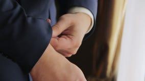 Man wearing tuxedo. stock video footage