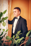 Man wearing tuxedo Stock Photos