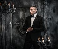 Man wearing tuxedo Stock Photos