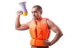 Man wearing vest Royalty Free Stock Image