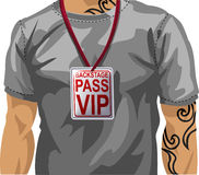 Man wearing VIP badge Royalty Free Stock Image